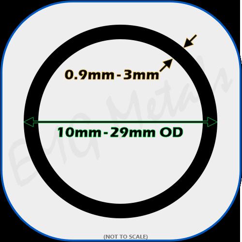 1000mm Steel ERW Tube 20mm OD x 1.5mm